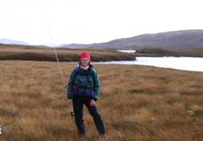 Carol brown trouting Wester Ross Scotland