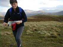 Carol Orienteering training above Crummockwater