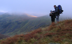 Nav training, above Wasdale