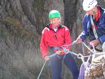 Excellent style on your first abseil off High Man into the Jordan Gap